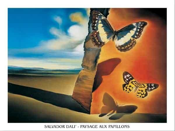 Landscape with Butterflies, 1956 Reproduction d'art