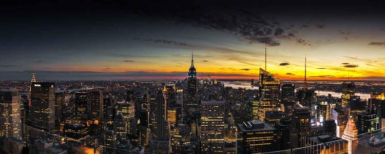 Lasitaulu Manhattan Sunset
