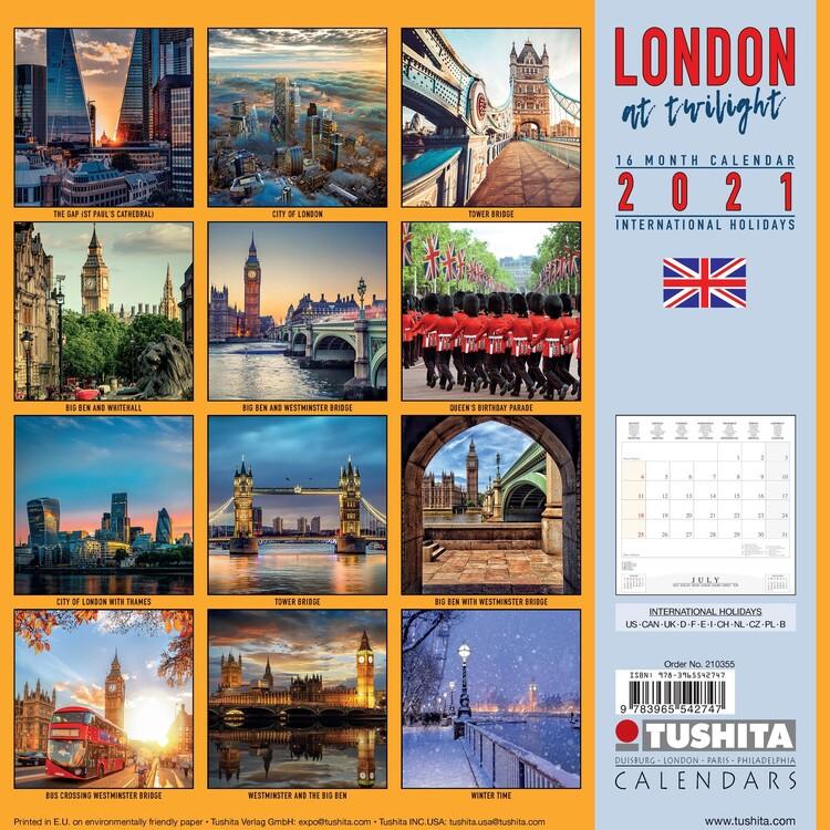 Calendar 2021 London at Twilight