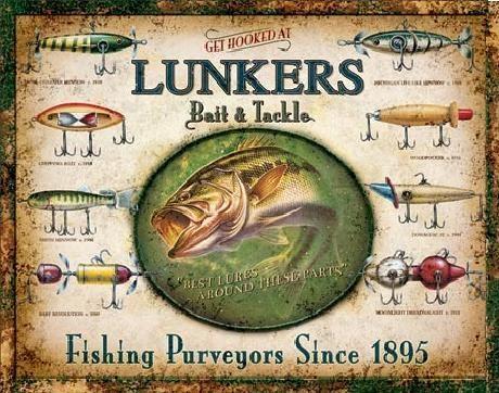 LUNKER'S LURES Plaque métal décorée