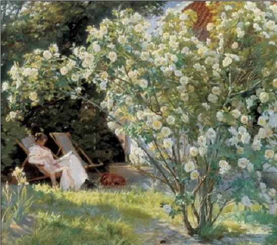 Marie in the Garden (The Roses) Reproduction