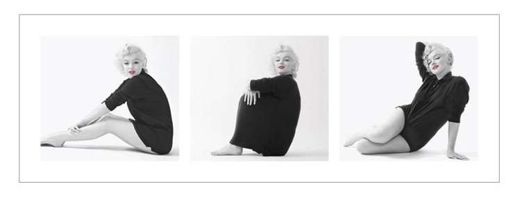 Marilyn Monroe - Sweater Triptych Reproduction