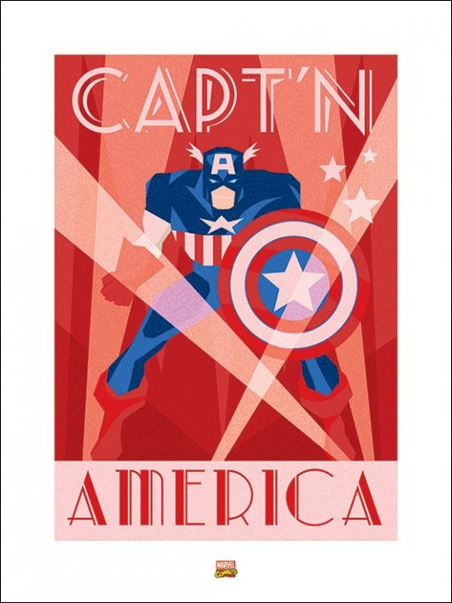 Marvel Deco - Captain America Reproduction