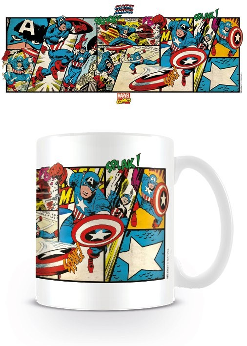 Mug Marvel Retro - Captain America Panels