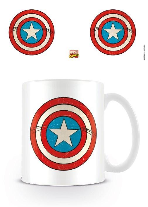 Mug Marvel Retro - Captain America Sheild