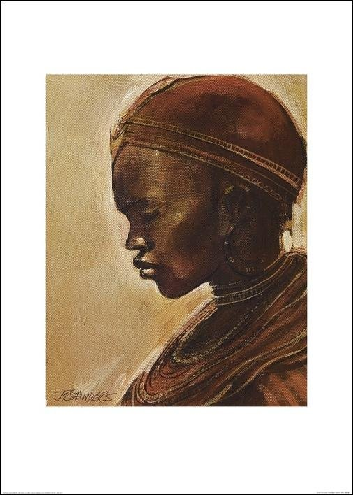Masai woman II. Reproduction d'art
