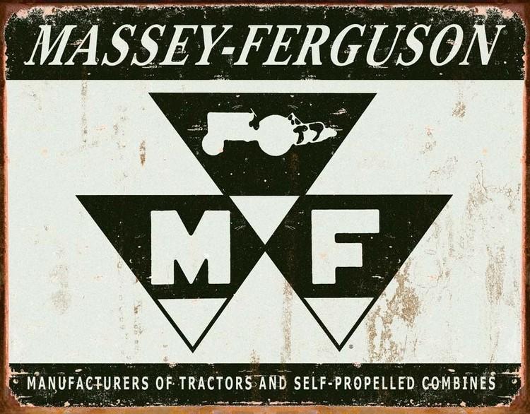 MASSEY FERGUSON Plaque métal décorée