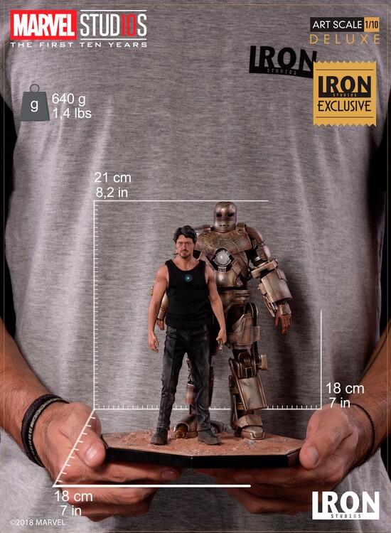 Figurine MCU 10 Years - Tony Stark & Mark I