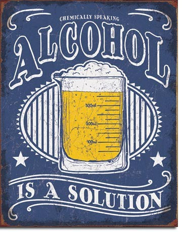 Metal sign Alcohol - Solution