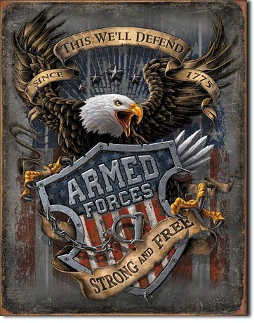 Metal sign Armed Forces - since 1775