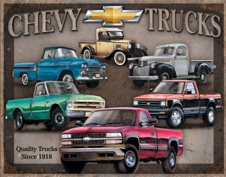 Metal sign Chevy Trucks Tribute