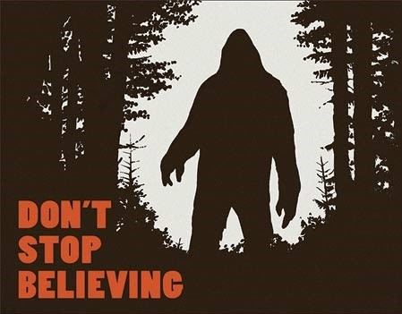 Metal sign Don't Stop Believing