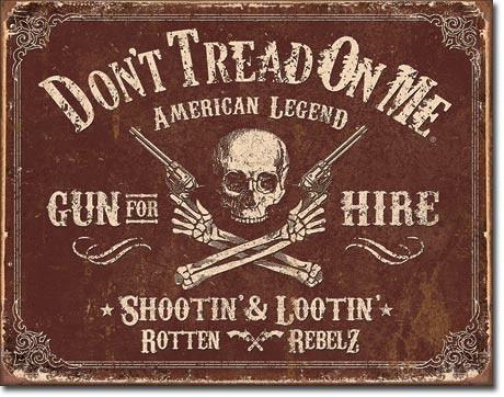 Metal sign DTOM - Gun for Hire