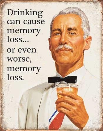 Metal sign Ephemera - Memory Loss