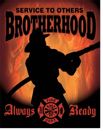 Metal sign Firemen - Brotherhood
