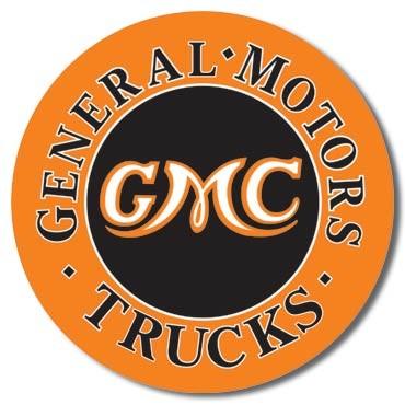 Metal sign GMC Trucks Round