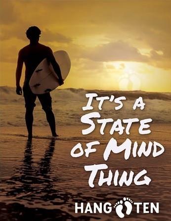 Metal sign Hang Ten - State of Mind