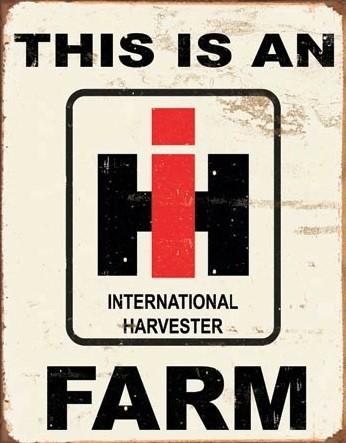 Metal sign IH Farm