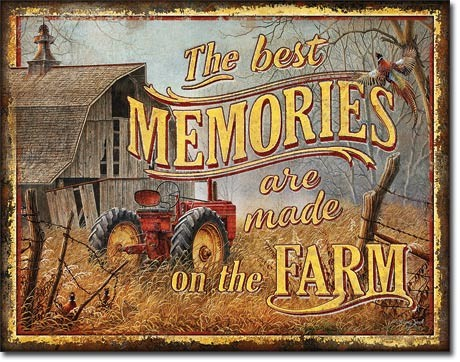 Metal sign JQ - Farm Memories