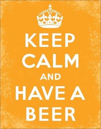Metal sign Keep Calm - Beer