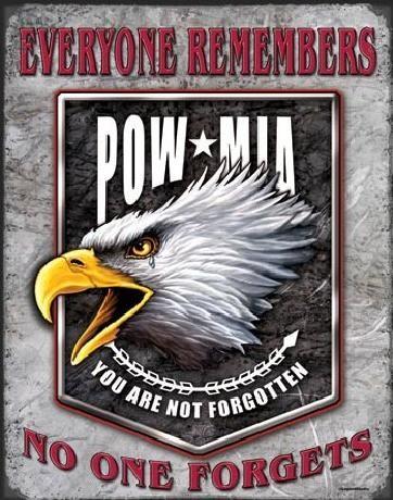 Metal sign LEGENDS - pow eagle
