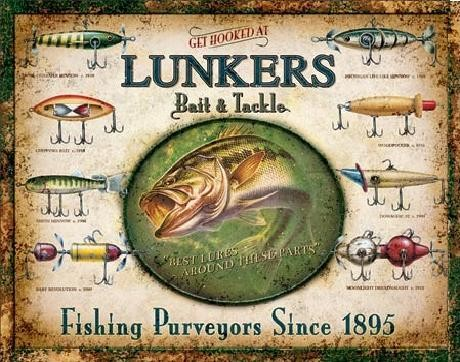 Metal sign LUNKER'S LURES