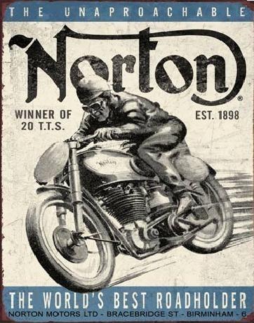 Metal sign NORTON - winner