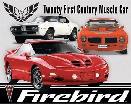 Metal sign Pontiac Firebird Tribute