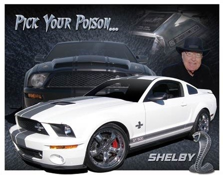 Metal sign Shelby Mustang - You Pick
