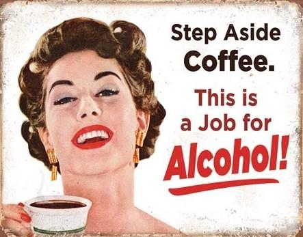 Metal sign Step Aside Coffeee