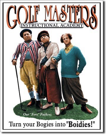Metal sign STOOGES - golf masters