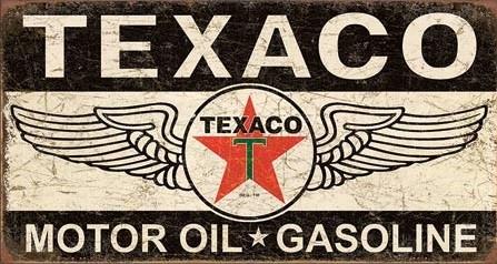 Metal sign Texaco Winged Logo