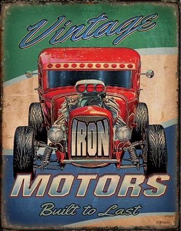 Metal sign Vintage Motors