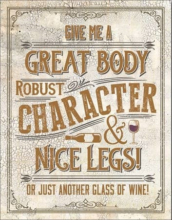 Another Glass of Wine Metal Sign