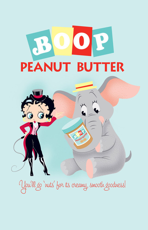 BETTY BOOP PEANUT BUTTER Metal Sign