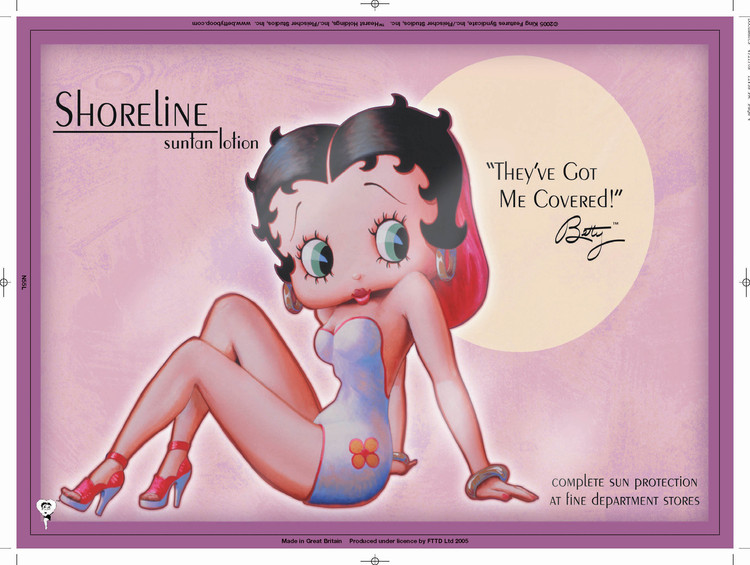 BETTY BOOP SHORELINE Metal Sign