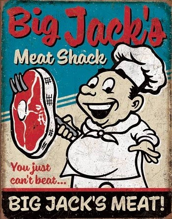 Big Jack's Meats Metal Sign
