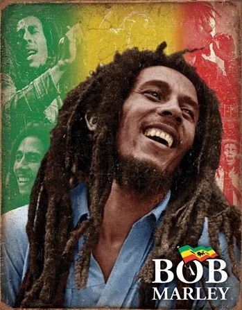 Bob Marley - Mosaic Metal Sign