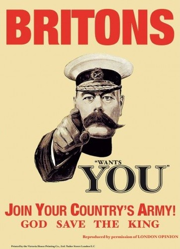 BRITONS WANTS YOU Metal Sign