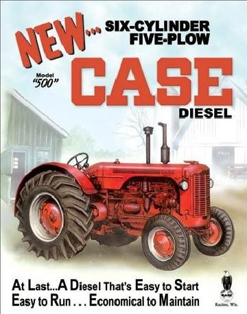 CASE - 500 diesel Metal Sign