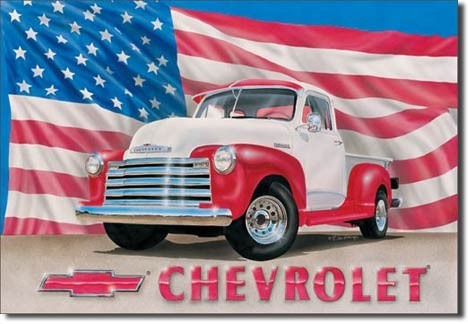 CHEVY 51 - pick up Metal Sign