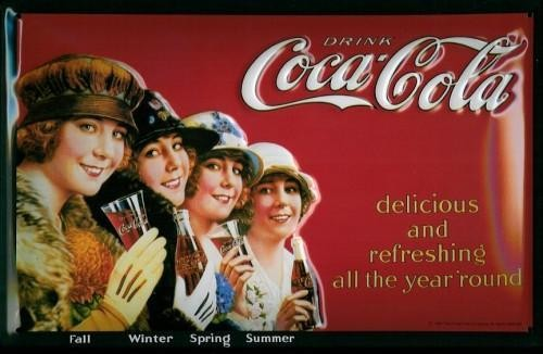 COCA COLA - FOUR SEASON 3D Metal Sign