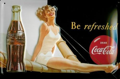 COCA COLA - SEGELBALKEN 3D Metal Sign