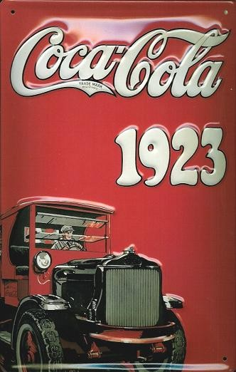 COCA COLA - TRUCK 3D Metal Sign