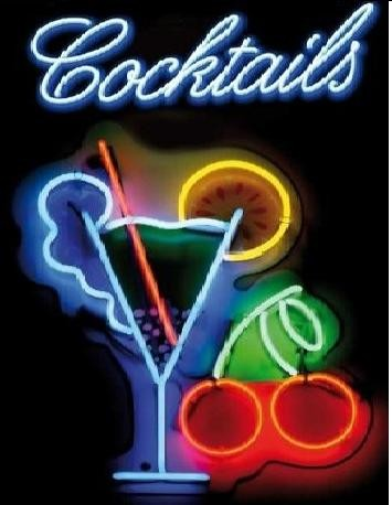 COCTAILS Metal Sign
