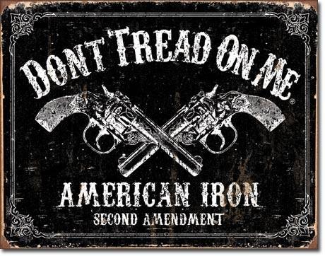 DTOM - american iron Metal Sign