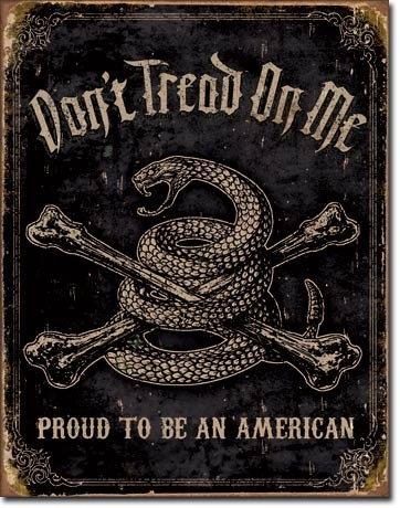 Metal sign DTOM - proud american