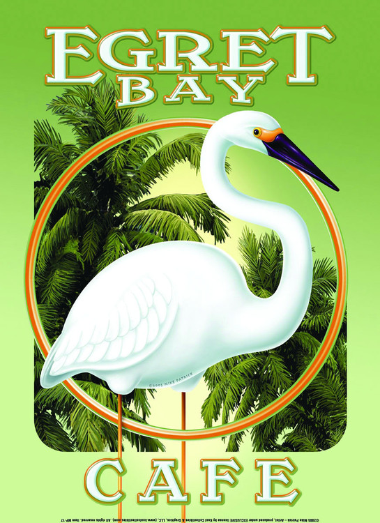 EGRET BAY CAFÉ Metal Sign