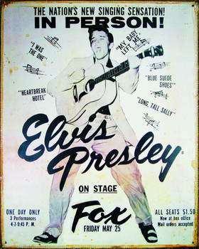ELVIS PRESLEY - vintage Metal Sign