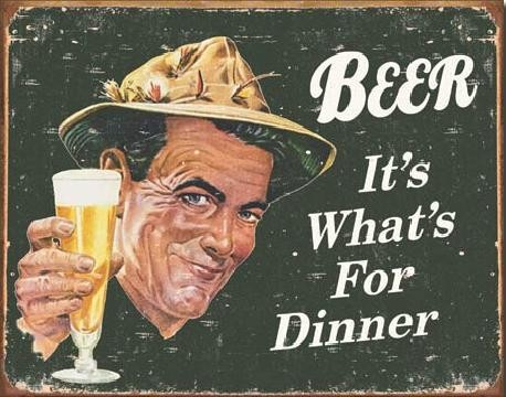 EPHEMERA - BEER - For Dinner Metal Sign